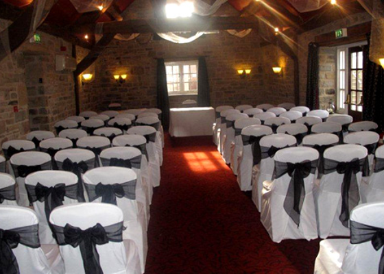 Chair Covers for a wedding at Tankersley Manor in Barnsley, South Yorkshire