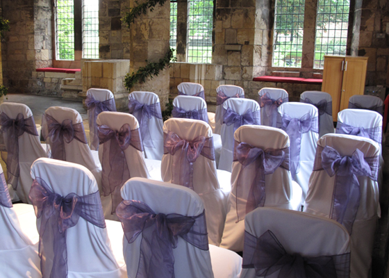 Chair Covers by Sweetly Seated for a wedding at Hospitum in York
